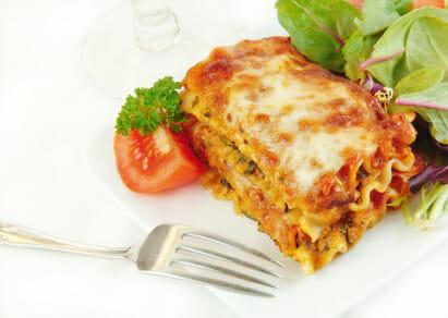 hearty vegan lasagna