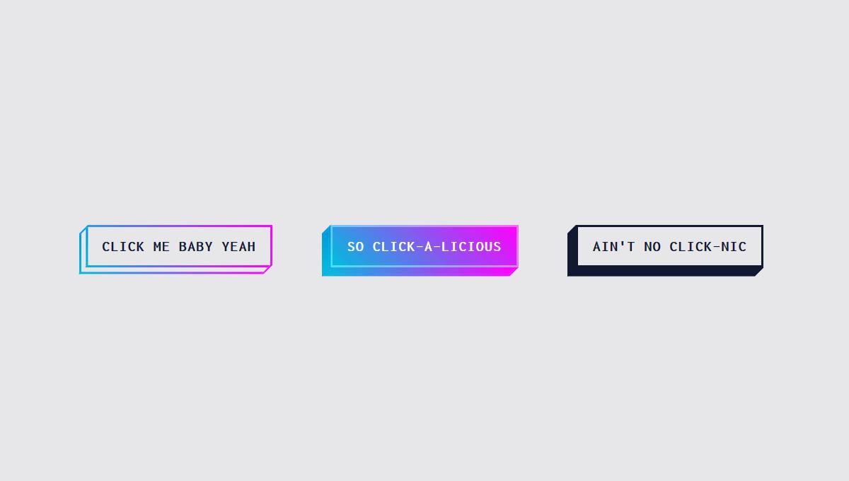 19 CSS 3D Buttons