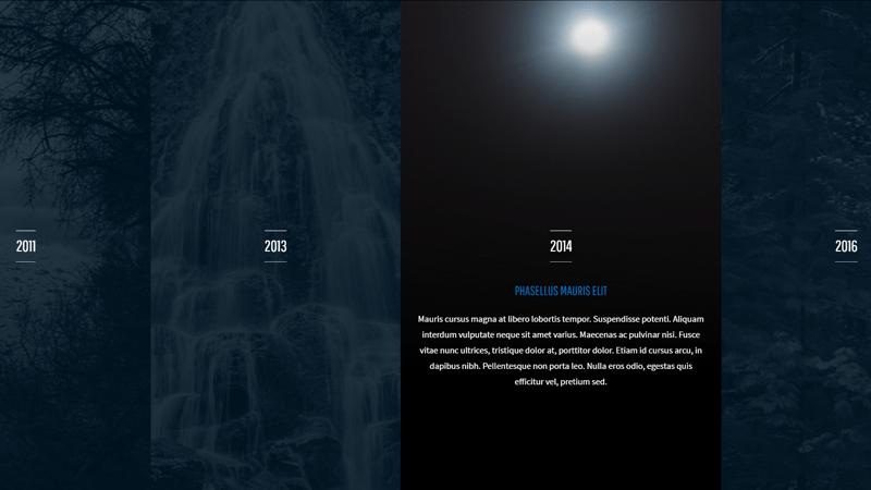 Demo Image: 4 Panel Timeline CSS