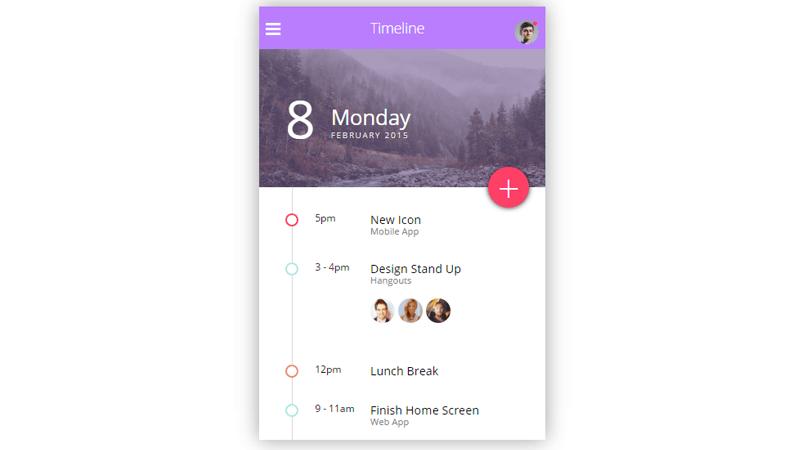 Demo Image: Timeline UI
