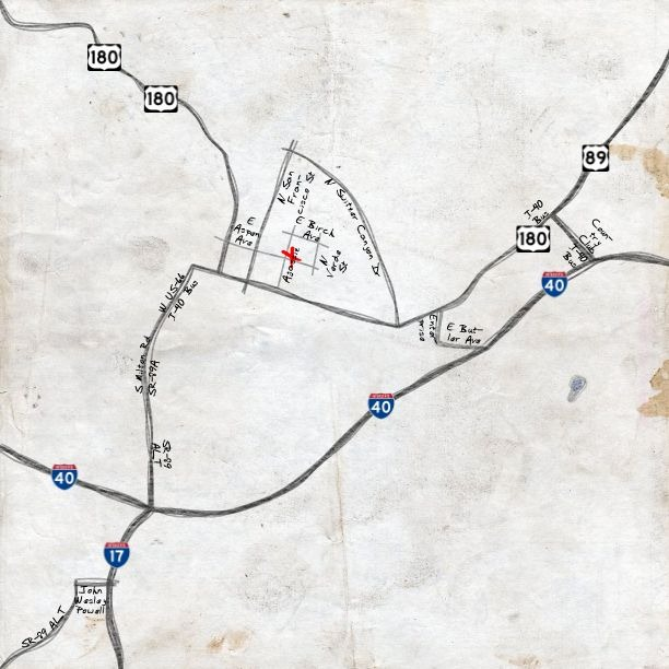 Address Maps In A Hand-Drawn Style With Destination Maps