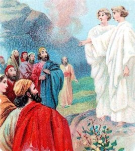 Jesus ascends into heaven