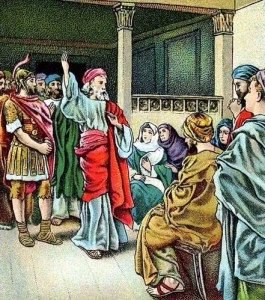 Peter in the house of Cornelius