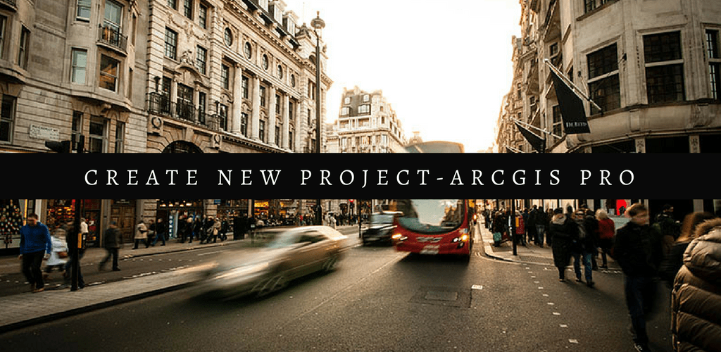 create new project arc gis featured
