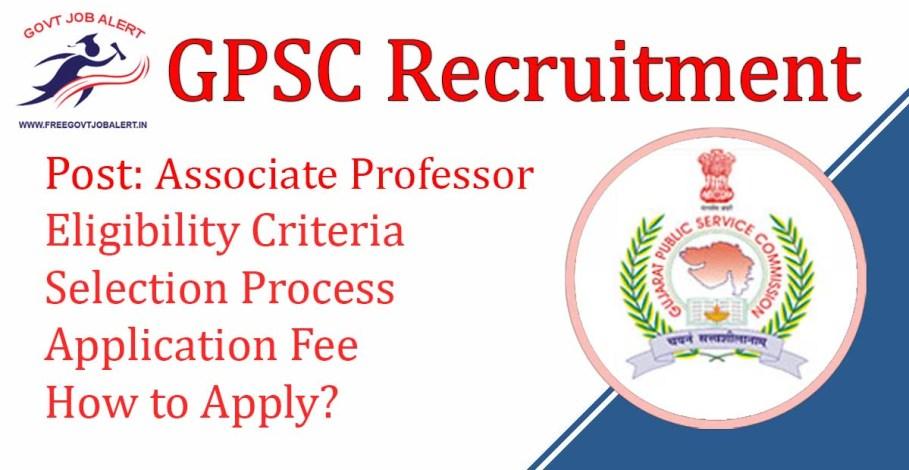 GPSC Associate Professor Recruitment 2019