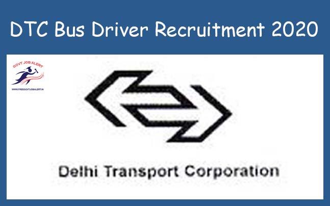 DTC Bus Driver Recruitment 2020