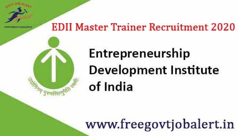 EDII Master Trainer Recruitment 2020