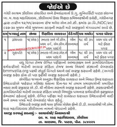 HNGU Patan Recruitment 2021 - Gruhpal And Grihapati Posts