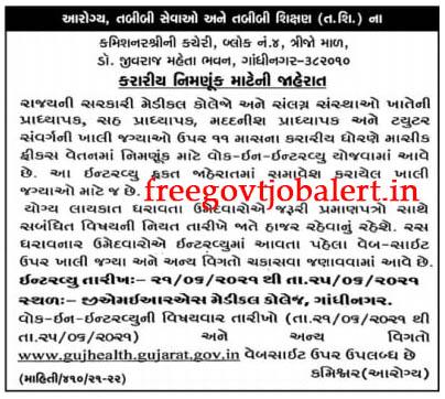Office of the Commissioner Gandhinagar Recruitment 2021 - Walk-in-interview