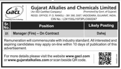 GACL Manager Recruitment 2021