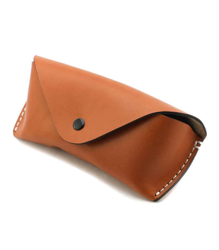 Tan Eola Leather Sunglass Case
