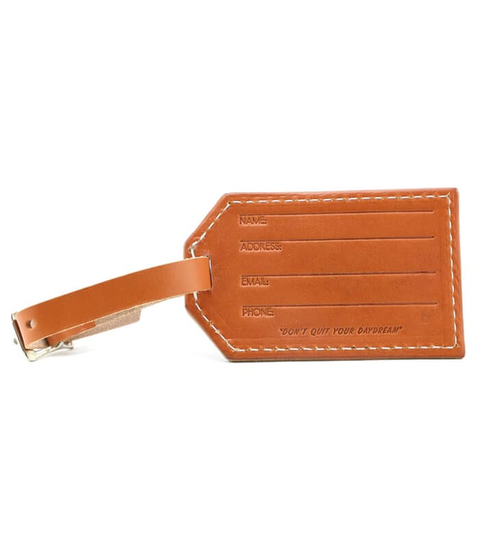 Tan MCO Leather Luggage Tag