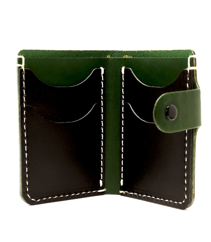 Emerald Primrose Snap Leather Wallet