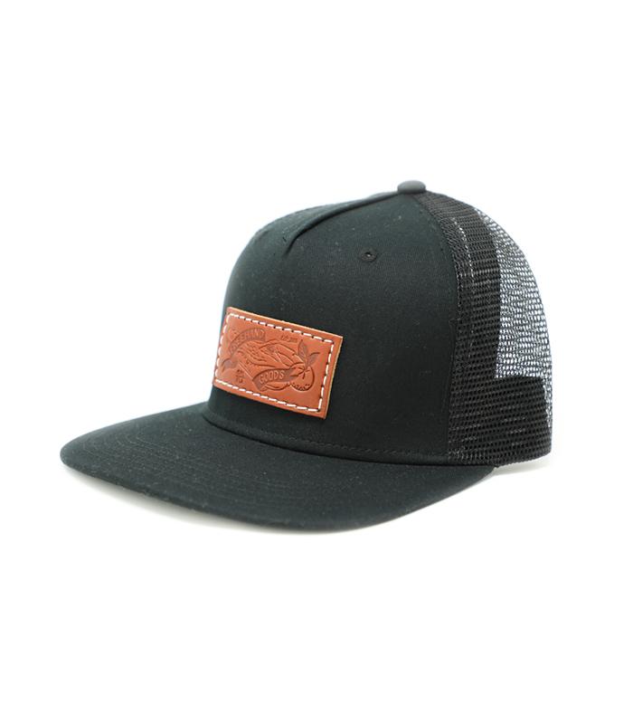 Trucker 5 Panel Hat Black