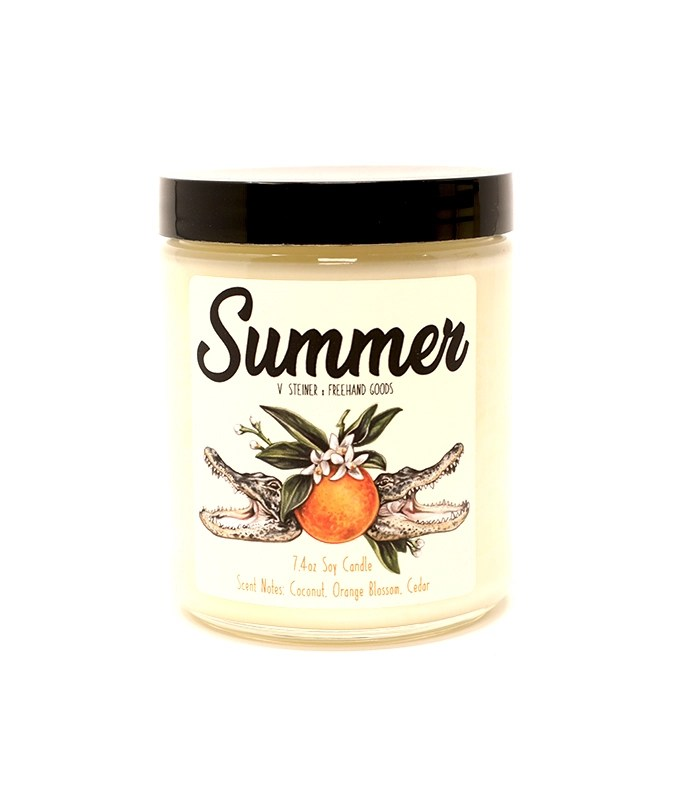 Summer Seasonal Soy Candle