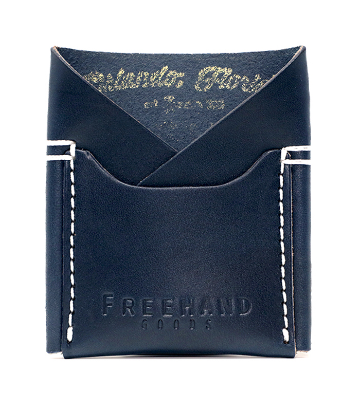 Navy Semoran Leather Cardholder