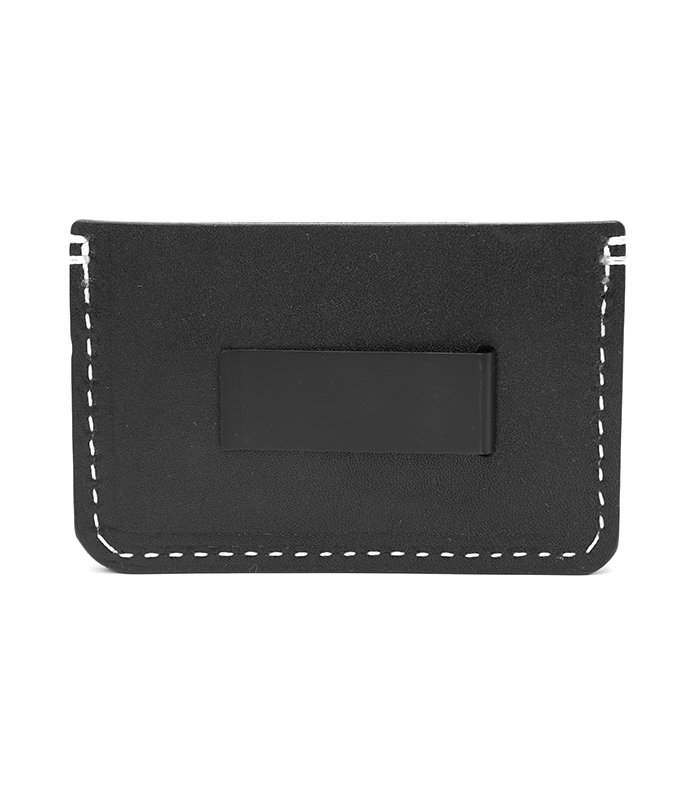 Black Colonial Leather Money Clip
