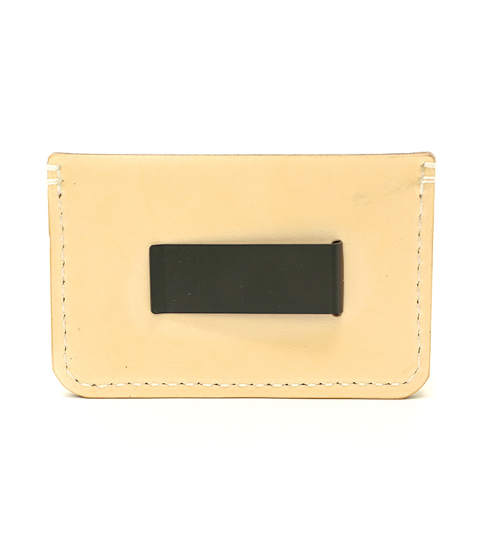 Natural Colonial Leather Money Clip