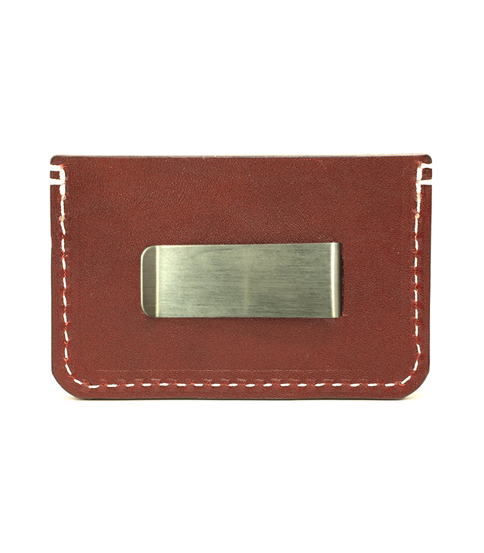 Oxblood Colonial Leather Money Clip
