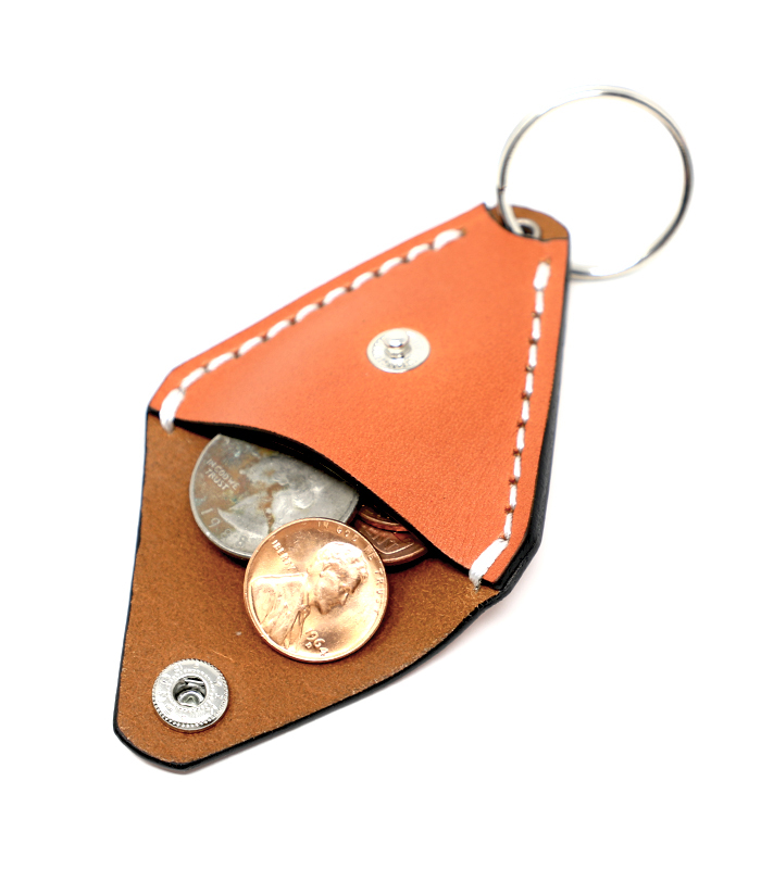 Tan 408 Leather Coin Case