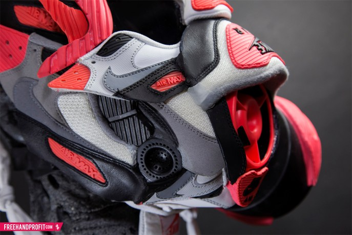 "Nike Air Max 90 ""Infrared"" Gas Mask by Freehand Profit"