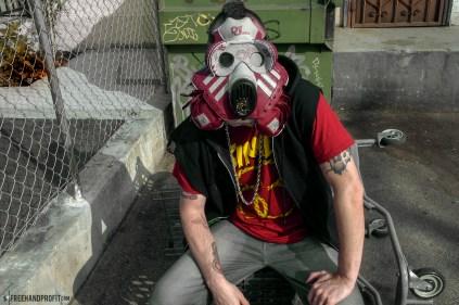 adidas x Def Jam Superstar II Gas Mask by Freehand Profit
