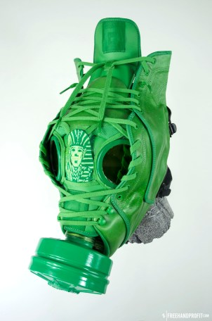 The 57th sneaker mask created by Freehand Profit. Made from 1 pair of Reebok T Rawws - created for Tyga on behalf of and presented on SKEE TV. Find out more about the work on FREEHANDPROFIT.com.