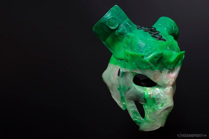 Cast resin sneaker mask by Freehand Profit. ShopFreehand.com