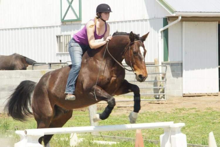 Jumping Bareback