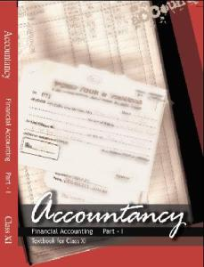 Financial Accounting 1 Class 11th Accountancy NCERT Book Latest New Edition 2018-19 PDF Download Free