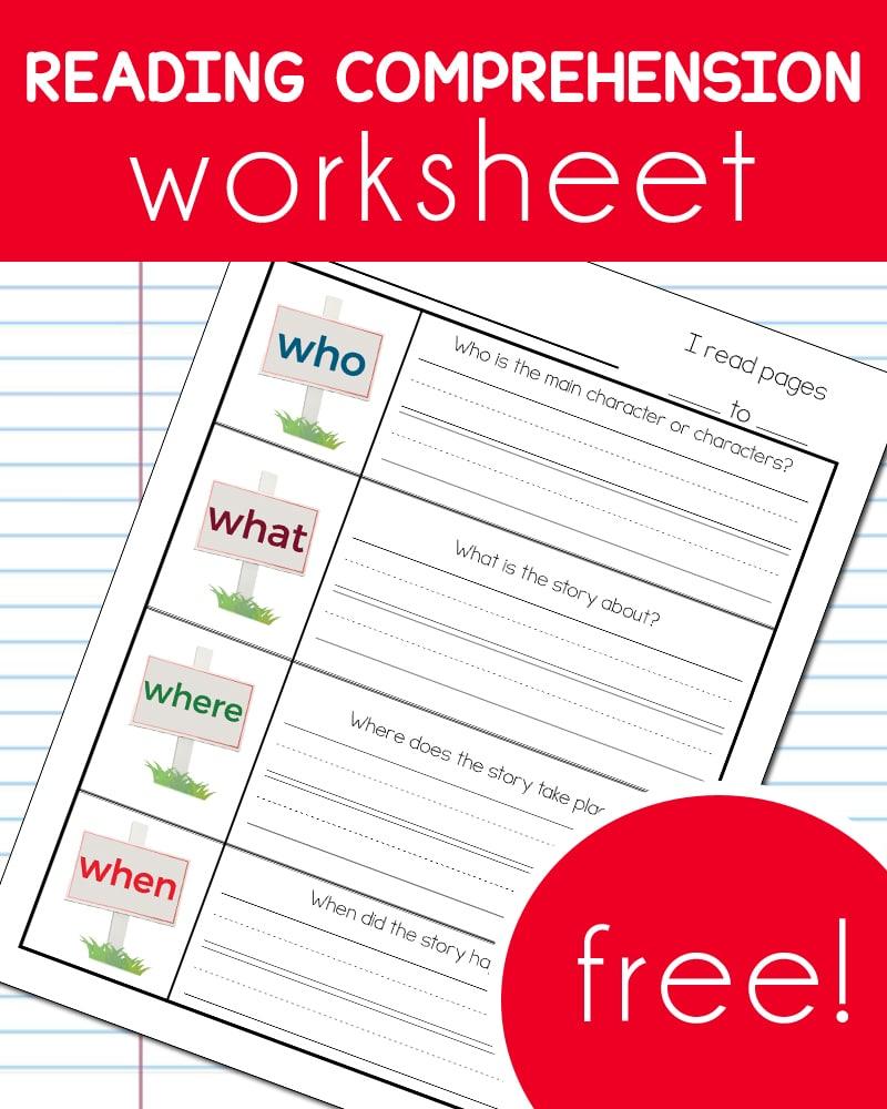 Free Reading Comprehension Worksheet  Free Homeschool Deals