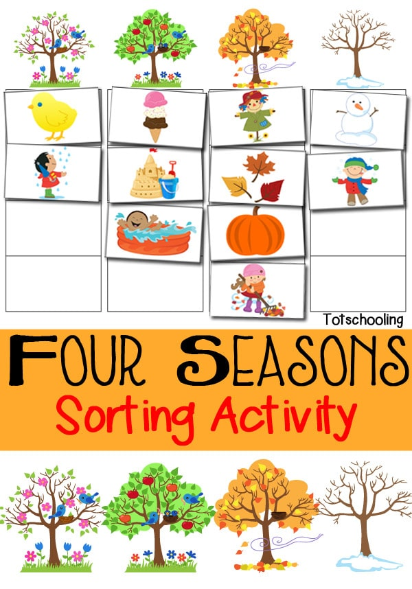 Free Four Seasons Sorting Printable  Free Homeschool Deals