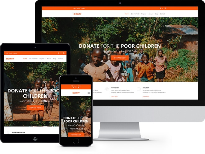 charity free website template