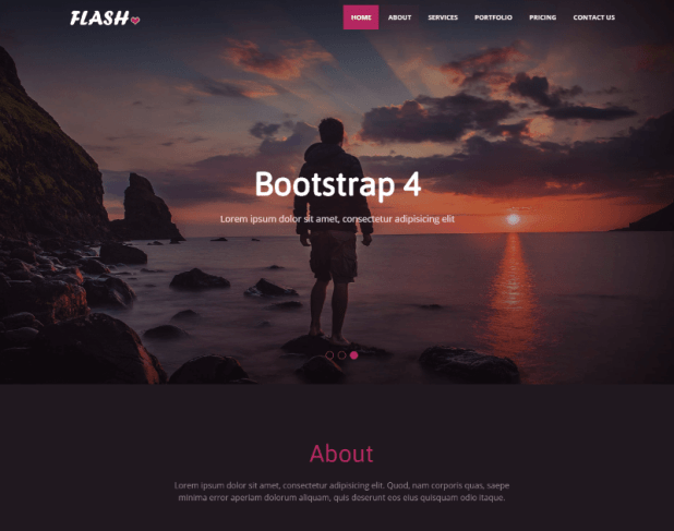 Flash Photography Bootstrap4 Web Template