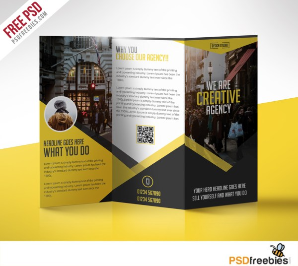 Trifold Business Brochure Psd Templates 2019