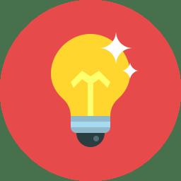 bulb icon flat icon