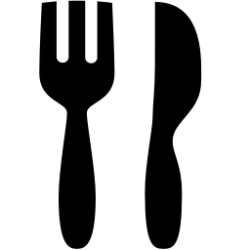 Black Restaurant Icon PNG Transparent Background Free Download #4881 FreeIconsPNG