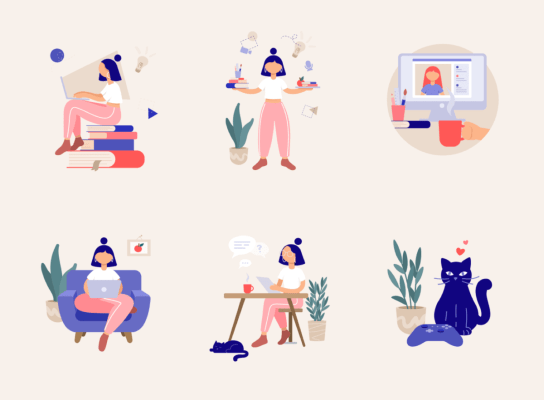 Remote Work Illustrations