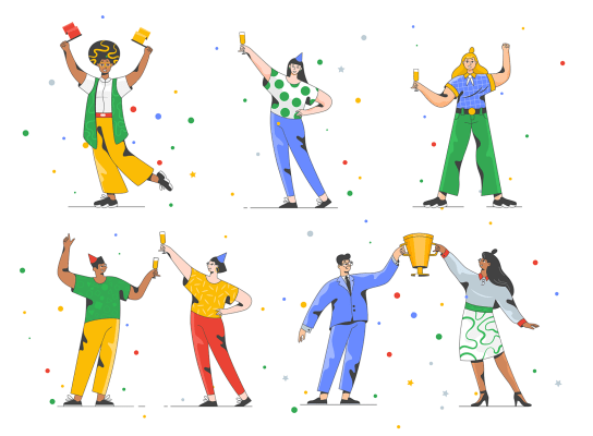 Success illustrations