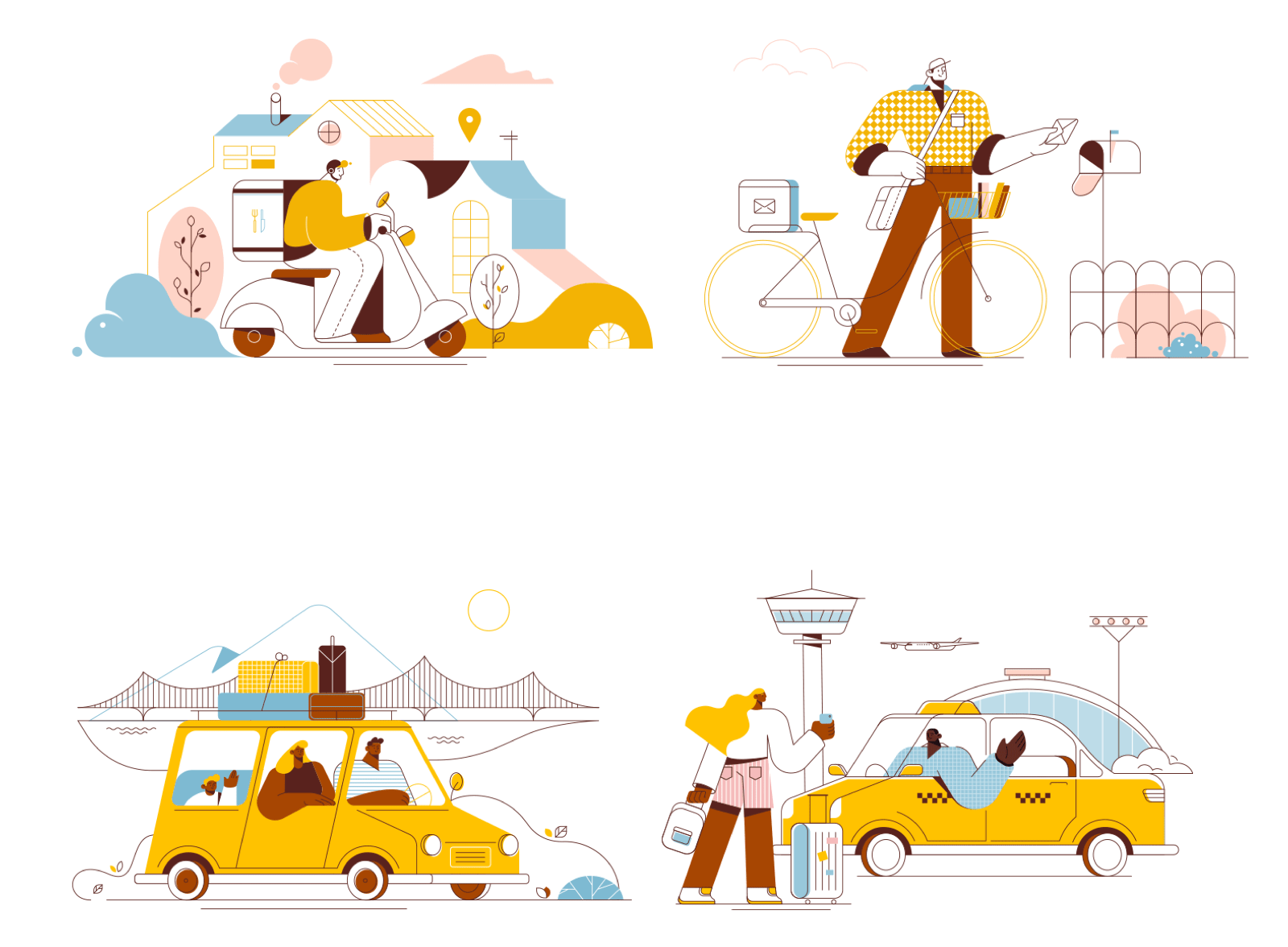 Transport Illustrations