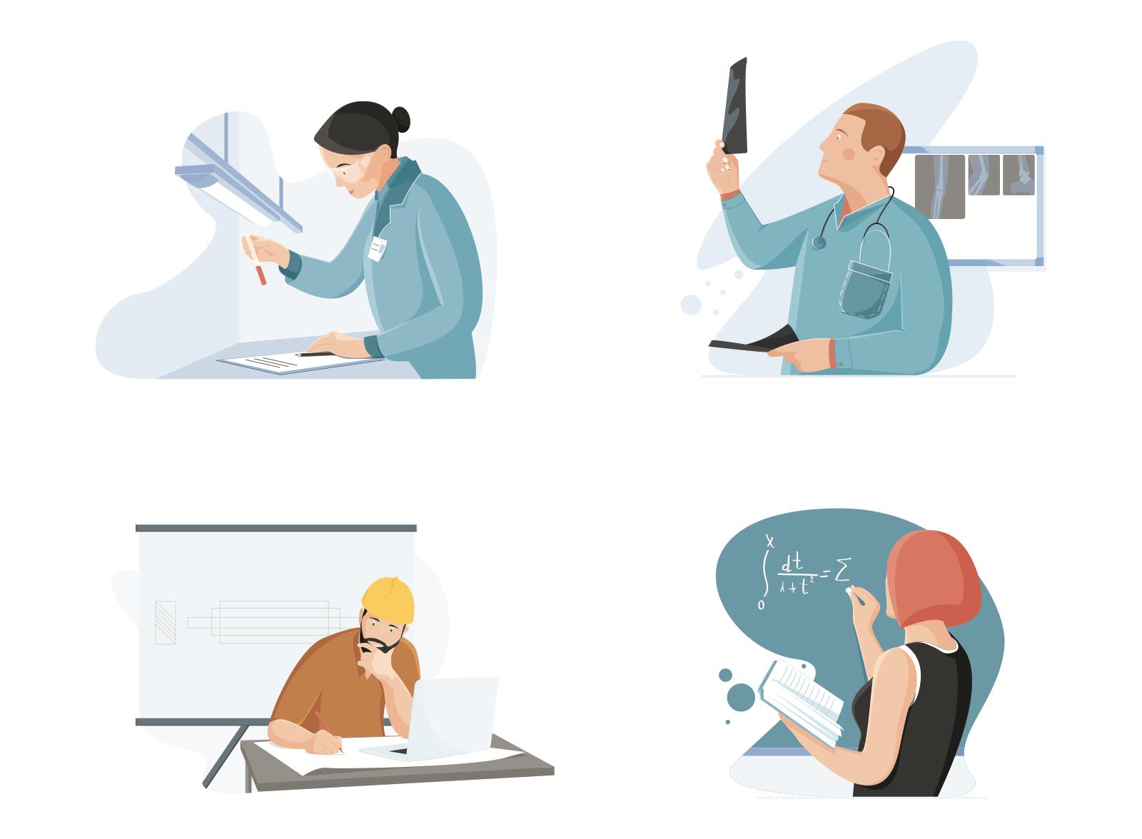 Professions illustrations