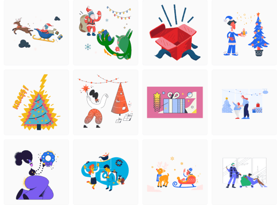 Merry Christmas illustrations