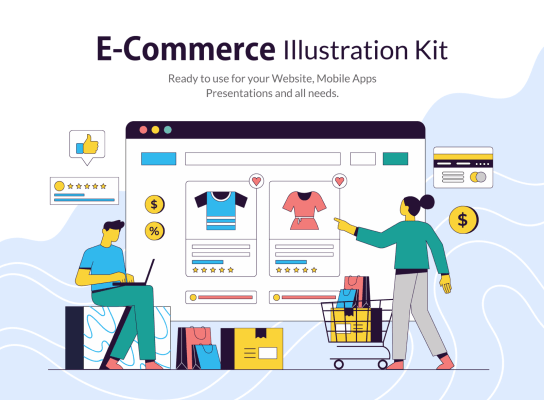 E-Commerce Illustration Kit