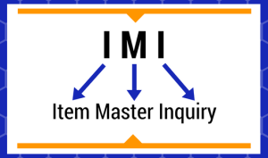 Item Master Inquiry Basics IMI Graphic