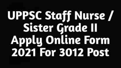 UP Nurse Bharti 2021 free job search