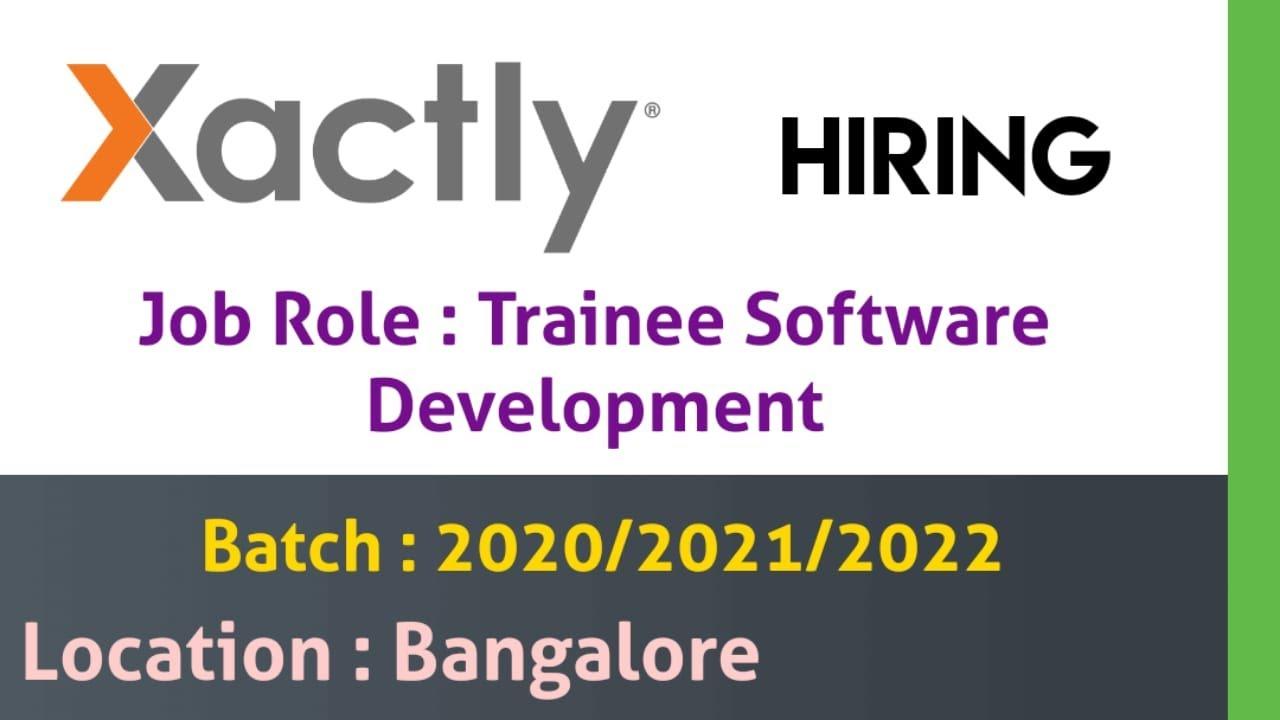 Xactly Hiring Trainee-Software Development Free Job search