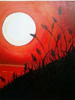 easy canvas painting simple landscape paintings acrylic beginners sunset beginner paint drawing designs nature tuning freejupiter diy cartoondistrict drawings artwork