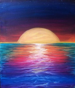 landscape easy simple painting artwork