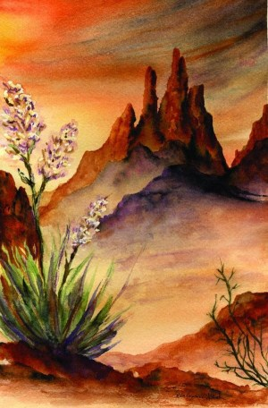 painting landscape watercolor sunset desert easy paintings simple beginners southwest beginner freejupiter idea artist landscapes nature landscaping cool water painted