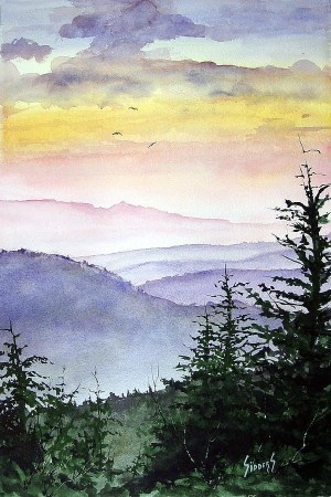 watercolor painting simple